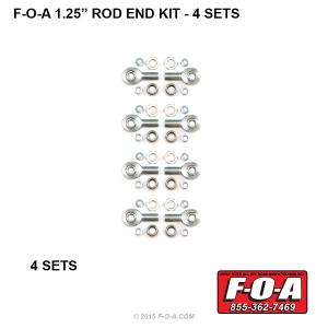 F-O-A 1-25 Rod End Set 4