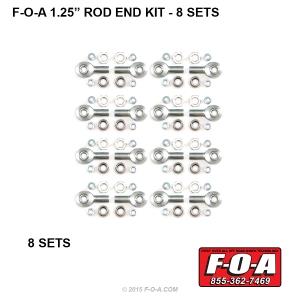 F-O-A 1-25 Rod End Set 8